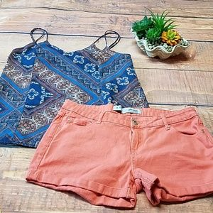 Denim & co coral shorts size 8